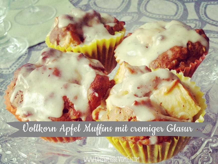 Apfel Muffins mit cremiger Glasur {www.dasweissevomei.com}