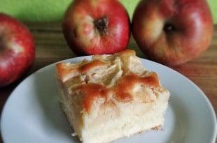 Apfelbiskuit - Blitz-Apfelkuchen mit Zitronenglasur {www.dasweissevomei.com}