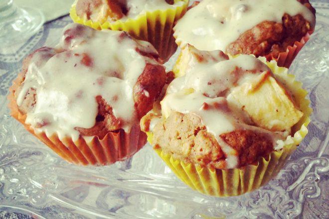Apfel Muffins mit Glasur {www.dasweissevomei.com}