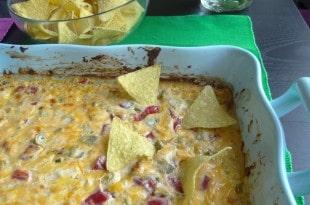 Scharfer Mexikanischer Käse Dip aus dem Ofen {www.dasweissevomei.com}