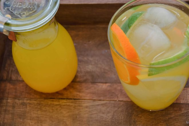 Citrus Sirup - Citrus Lemonade {www.dasweissevomei.com}