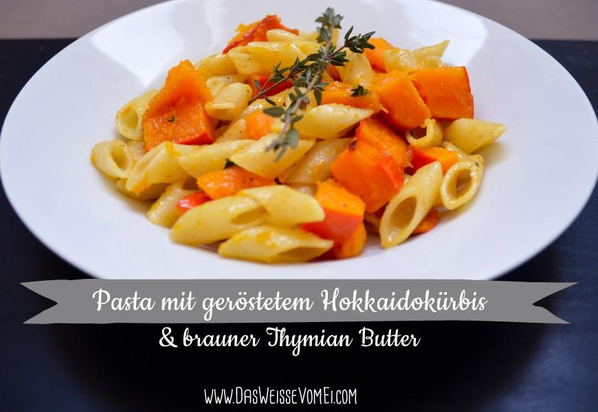 Kürbispasta mit brauner Thymian Butter {www.dasweissevomei.com}