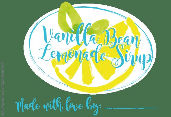 Vanilla Bean Sirup Label {www.dasweissevomei.com}