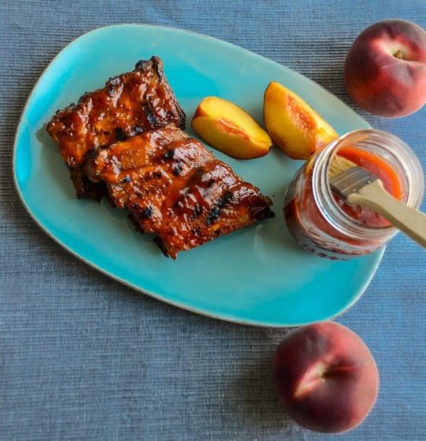 Peach Bourbon BBQ Sauce - Das Weisse vom Ei