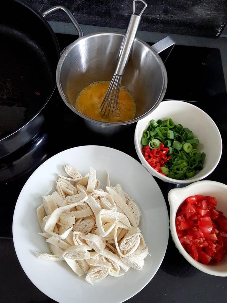 Mexikanisches Tortilla Rührei - Zutaten {www.dasweissevomei.com}