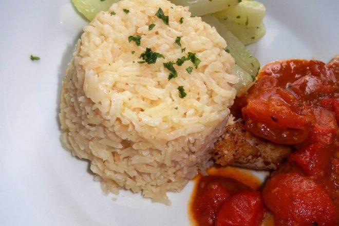 Duftender knoblauch reis einfach im ofen oder reiskocher - Reis im reiskocher ...