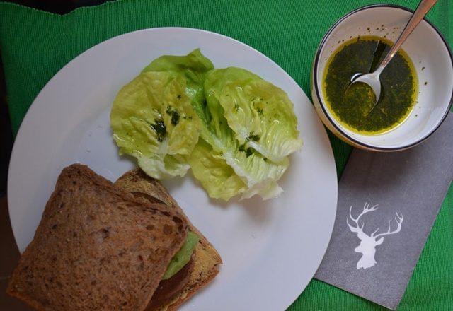 Riesen Champignon Sandwich & Omas Salat {www.dasweissevomei.com}