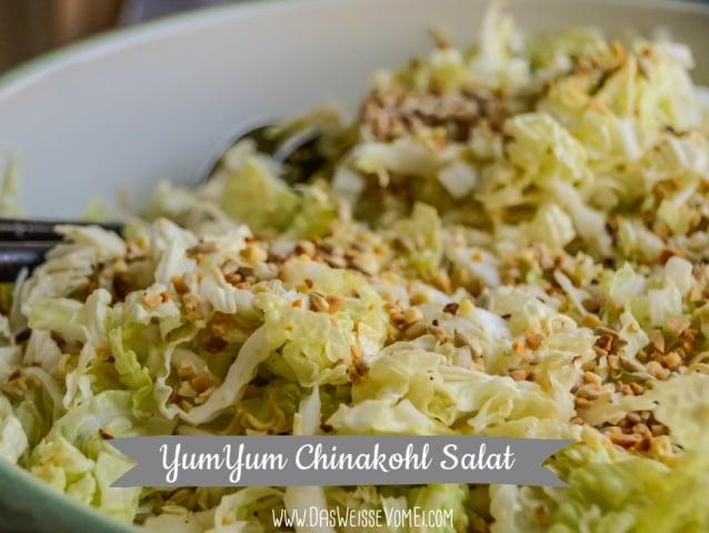 Yumyum Chinakohl Salat Mit Crunchy Topping Das Weisse Vom Ei